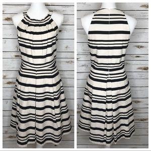 Eliza J Fit n Flare Halter Stripe Dress Sz 10